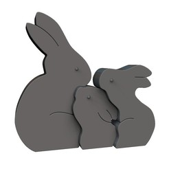 Download 3D printer files Easter Rabbit Puzzle, print3dstv