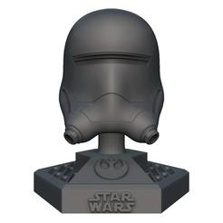 Download 3D printer designs Star Wars Flame Helmet, print3dstv