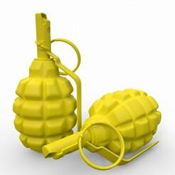 F1_Hand_Grenade_01.jpg Télécharger fichier STL Grenade à main F1 • Design pour imprimante 3D, print3dstv