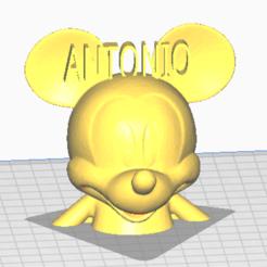 Descargar archivo 3D MICKEY MAUSE ANTONIO, jorgekampillero