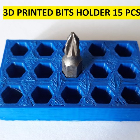 Télécharger modèle 3D gratuit PORTE-EMBOUTS IMPRIMÉ 3D 15 PCS, CNCEVOLUTION
