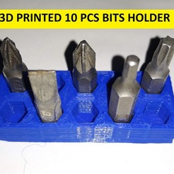 Download free 3D printer model 3D PRINTED BITS HOLDER 10 PCS, CNCEVOLUTION