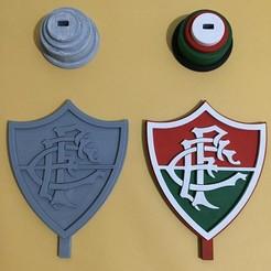 Download 3D printer templates Soccer Club Shield (Fluminense and Flamengo), Marciodm