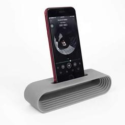 Download 3D printing models cell phone sound amplifier, Aprilis