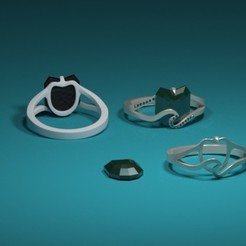 Download free 3D printing templates RING, Aprilis