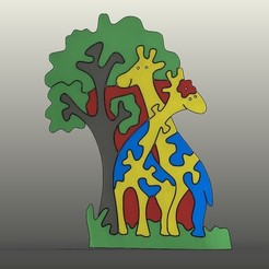 Download STL file Giraffe Puzzles, Aprilis