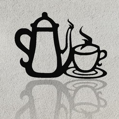 Download free STL files Coffee wall Deco, Aprilis