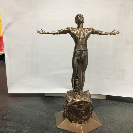 Download 3D printer files University of the Philippines Oblation Penholder, vmgsia