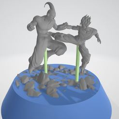 Download 3D printing files Gohan vs Buu, Creativeingeneer