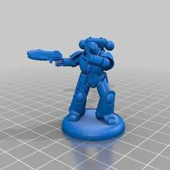 Download free STL file Marine scared of plasma gun, Sicarius