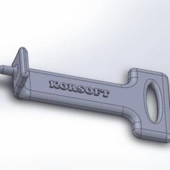 Descargar modelo 3D gratis Covid19 key, Korsoft