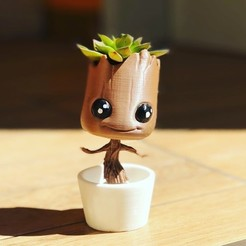 Download 3D printing templates Baby Groot Extra Cute Dancing, BruMachioni