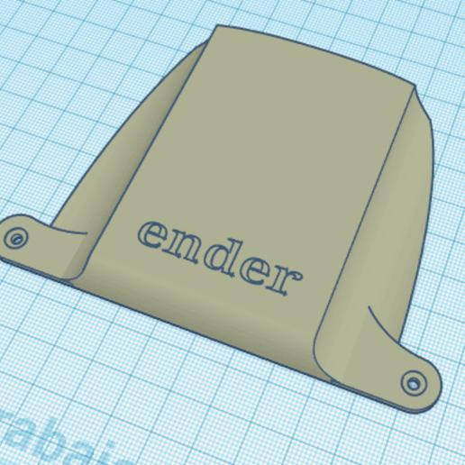 Download free 3D printing templates Cover fan ender, rasakobra