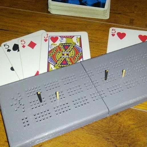 Download free 3D printer designs Card holder & Cribbage board, xmas75