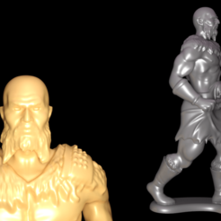 Download 3D printing models Barbarian warrior miniature statue stl 3D print model, 3D_Print