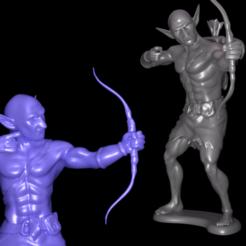 preview1.png Télécharger fichier STL Modèle d'archer gobelin pour l'impression 3D • Design pour imprimante 3D, 3D_Print