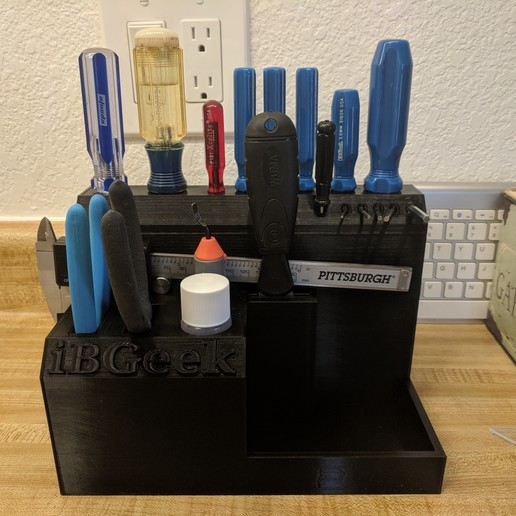 Download free 3D printing models Desktop Tool Holder, ibgeek