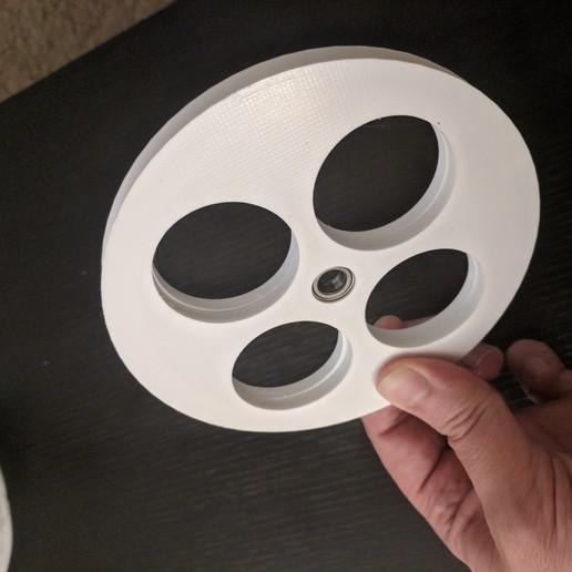 Télécharger fichier impression 3D gratuit Poulie à filament 130MM avec roulement 608, ibgeek