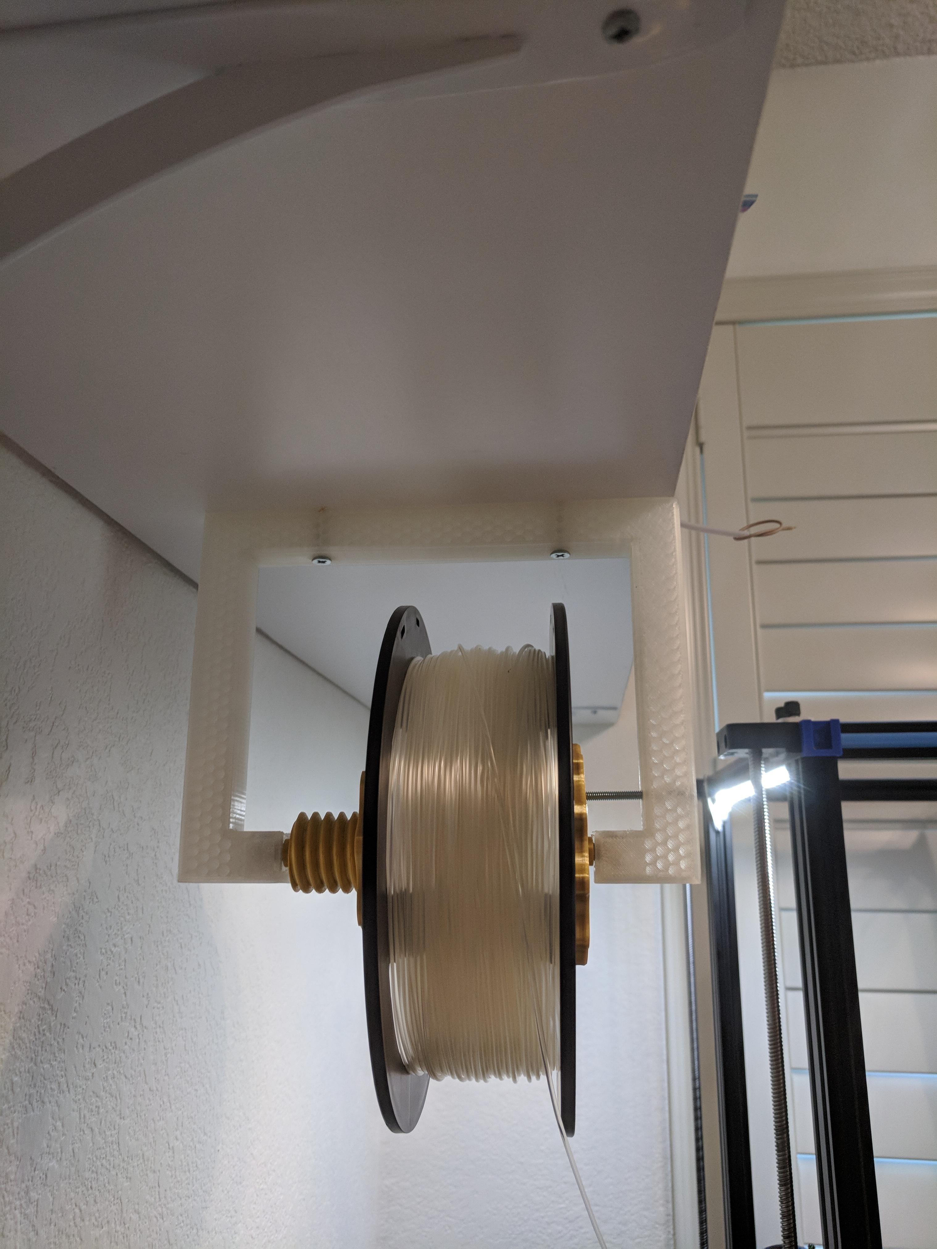 IMG_20180728_125450.jpg Download free STL file Suspended Filament Spool Holder • 3D printing model, ibgeek