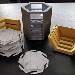 Download free 3D printer files Settlers of Catan Interlocking piece storage, ibgeek