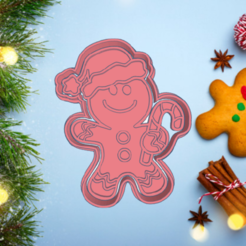 Exquisite Rottis-6.png Download STL file CHRISTMAS GINGERBREAD MAN COOKIE CUTTER GINGY • 3D print object, KDASH