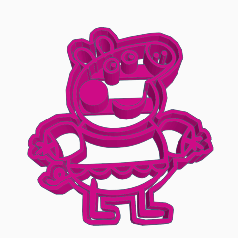Download 3D printer templates PEPPA PIG COOKIE CUTTER, KDASH