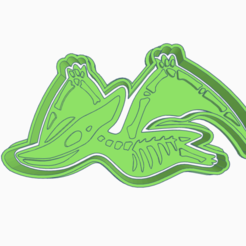 Sizzling Crift.png Download STL file PTERODACTYL DINOSAUR COOKIE CUTTER • 3D print design, KDASH
