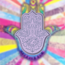 Terrific Hillar-Waasa.png Download STL file HAND FATIMA HAMSA COOKIE CUTTER • 3D print model, KDASH