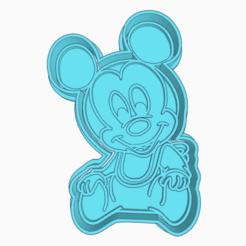 Download 3D printer files MICKEY MOUSE COOKIE CUTTER, KDASH