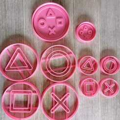 7bbc0977-4aab-46d5-8cfc-f29efc4841ea.jpg Download STL file PLAYSTATION BUTTONS KIT COOKIE CUTTER PACK • 3D printing design, KDASH