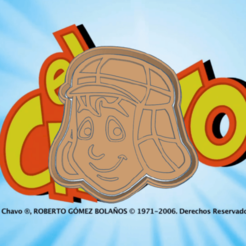 Daring Wluff-chavo.png Download STL file THE GUY WITH THE 8 COOKIE CUTTER • 3D printing template, KDASH