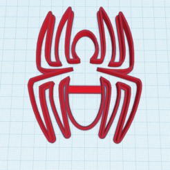 Download STL files SPIDER CUTTING COOKIE LOGO SPIDER MAN, KDASH
