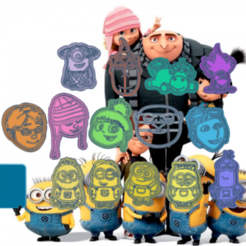 Download 3D printing files MY FAVORITE VILLAIN MINIONS KIT X14 COOKIE CUTTER, KDASH