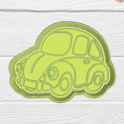 Download STL CAR COOKIE CUTTER, KDASH