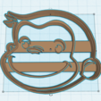 Download 3D model CURIOUS GEORGE HEAD COOKIE CUTTER, KDASH