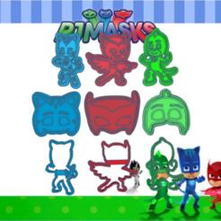 Shiny Habbi jhvb.png Télécharger fichier STL PJ MASK KIT X9 COOKIE CUTTER PACK • Objet à imprimer en 3D, KDASH