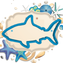 Swanky shark.png Download STL file SHARK COOKIE CUTTER • Template to 3D print, KDASH