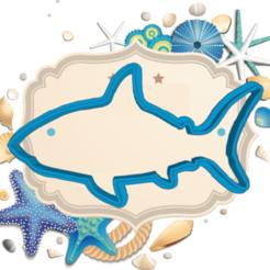 Swanky shark.png Télécharger fichier STL L'EMPORTE-PIÈCE REQUIN • Objet pour impression 3D, KDASH