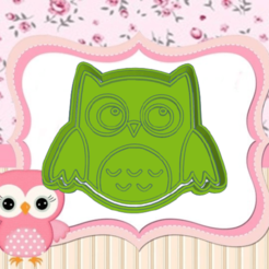 dfgf.png Download STL file OWL COOKIE CUTTER • Object to 3D print, KDASH