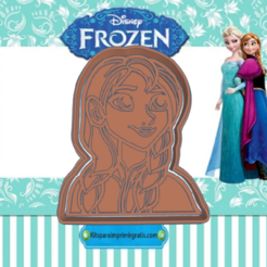 Sizzling Snicket-ann.png Download STL file FROZEN ANNA COOKIE CUTTER • 3D printable model, KDASH