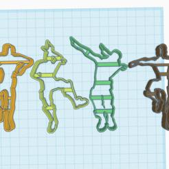 Descargar diseños 3D CORTADOR DE GALLETAS FORTNITE DANCING X4, KDASH