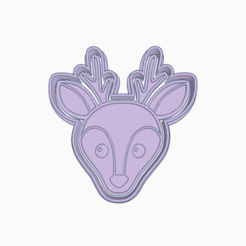 Ciervo.png Download STL file DEER NORDIC ANIMAL COOKIE CUTTER • 3D print template, KDASH
