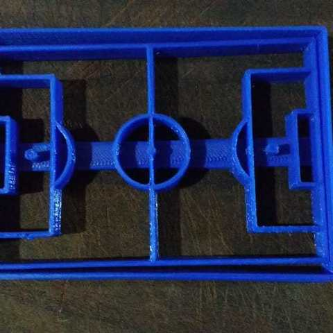 Download 3D printing models CANCHA SOCCER COOKIE CUTTER, KDASH