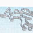 Download 3D printer model FIGURE FOOTBALL PLAYER X3 COOKIE CUTTER, KDASH