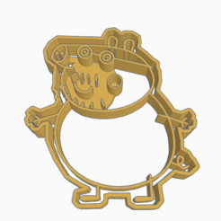 Descargar archivo 3D PEPPA PIG PAPA COOKIE CUTTER, KDASH