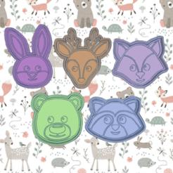Dazzling Bigery kir.png Download STL file NORDIC ANIMALS KIT X5 COOKIE CUTTER PACK • Design to 3D print, KDASH