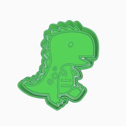 Brave Jaban-Amur.png Download STL file DINOSAUR BABY T-REX COOKIE CUTTER • 3D printable design, KDASH