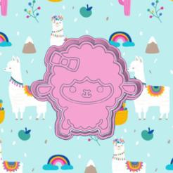 Incredible bebe.png Download STL file LLAMA,ALPACA BABY COOKIE CUTTER • 3D printer object, KDASH
