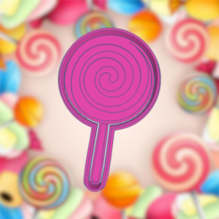 Smashing Fyyran.png Download STL file CANDY LOLLIPOP COOKIE CUTTER • 3D print object, KDASH