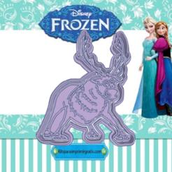 Sizzling Snicket-dajk.png Download STL file FROZEN SVEN COOKIE CUTTER • 3D printable template, KDASH